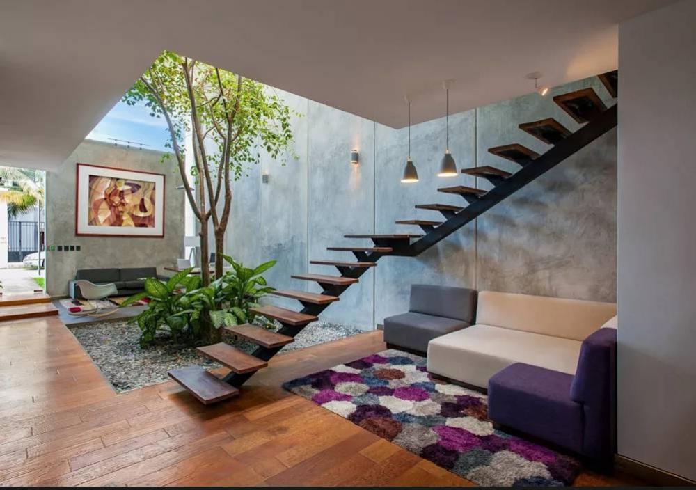Giếng trời của ngôi nhà mang ý nghĩa kiến trúc và phong thủy quan trọng